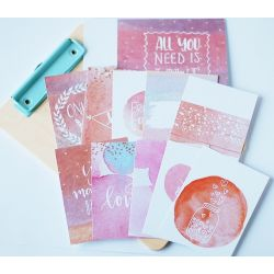 Cartes journaling - Studio FORTY - Aqualove