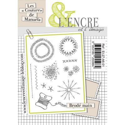 """Tampons L'Encre & l'Image - Les """"Couture"""" de Manuéla - Brodé main"""