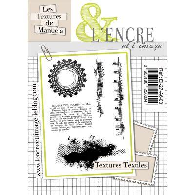 """Tampons L'Encre & l'Image - Les """"Couture"""" de Manuela - Textures textiles"""