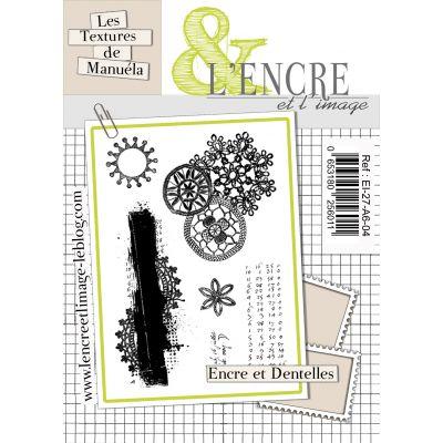 Tampons L'Encre & l'Image - Les textures de Manuela - Encres et dentelles