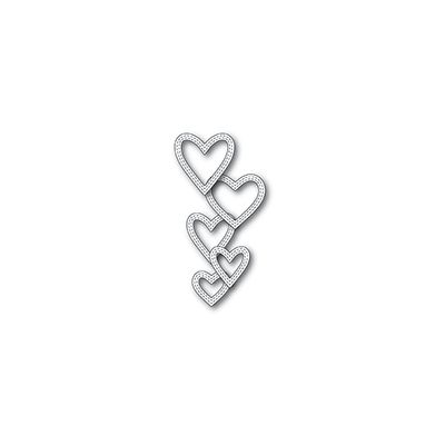 Die Memory Box - Classic Double Sitched Heart Rings