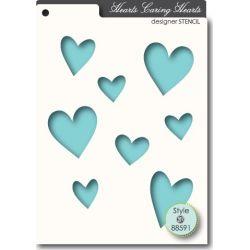 Pochoir MemoryBox - Caring Hearts