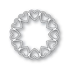 Die Poppystamps - Fancy Heart Ring