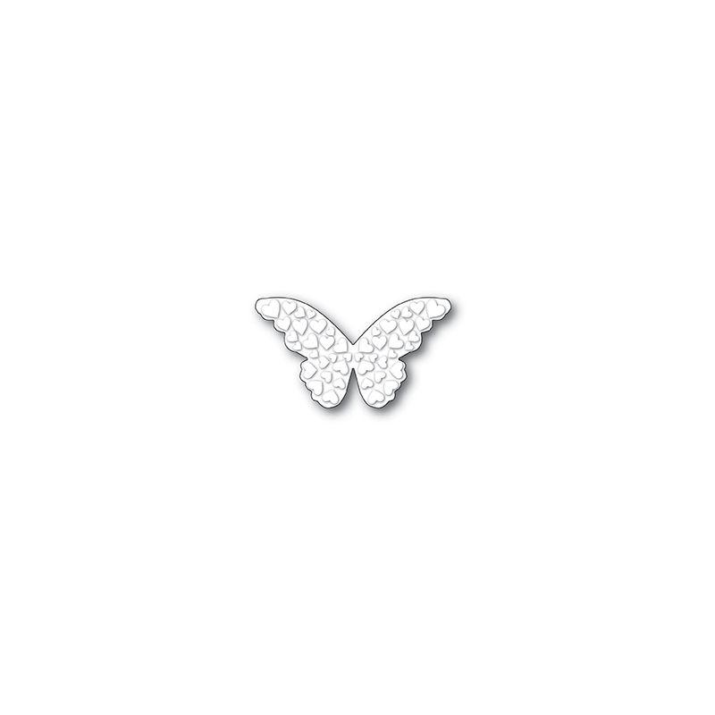 Die Poppystamps - Embossed Heart Butterfly