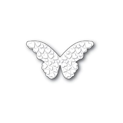 Die Poppystamps - Embossed Heart Butterfly