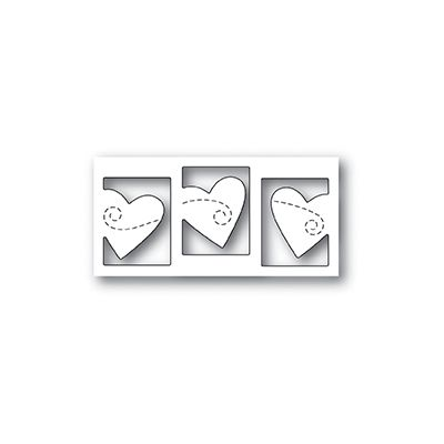 Die Poppystamps - Triple Heart twirl