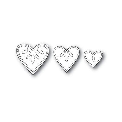 Die Poppystamps - Petite Stitched Hearts