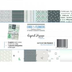 Pack de papiers A4 - Chou & Flowers - Esprit Hygge