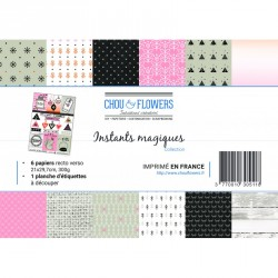 Pack de papiers A4 - Chou & Flowers - Instants Magiques