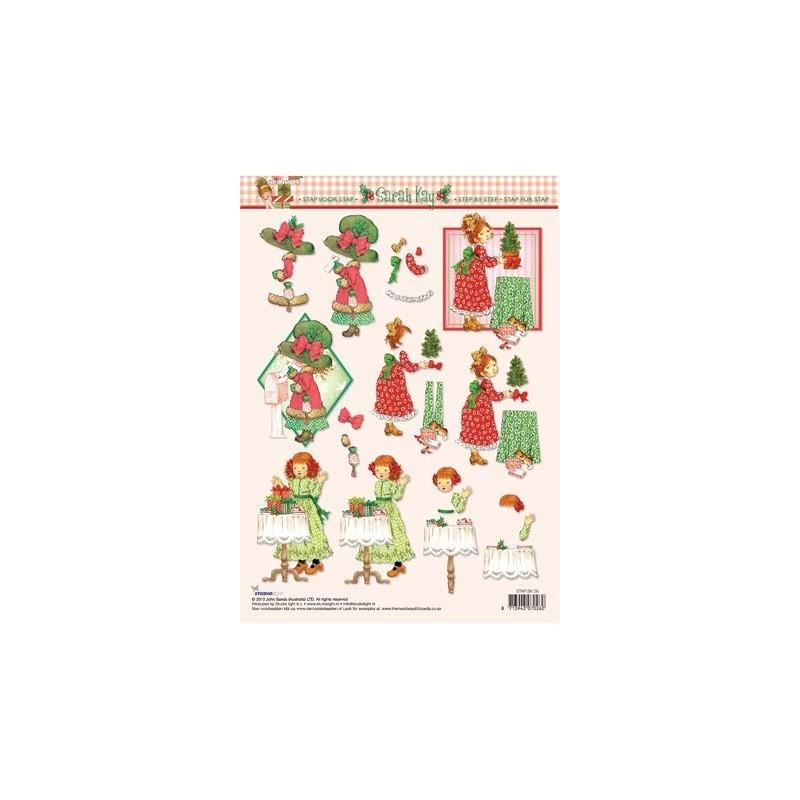 Image Carterie 3D Sarah Kay - Lettre & Table de cadeaux