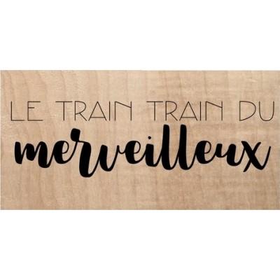 Tampon bois Chou & Flowers - C'est de saison Printemps - Le train train du merveilleux