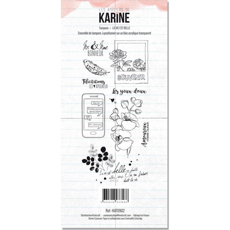 Tampons transparents Les Ateliers de Karine - La vie est belle
