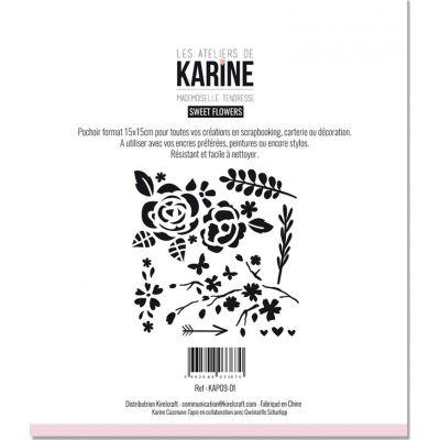 Pochoir Les Ateliers de Karine - Sweet Flowers