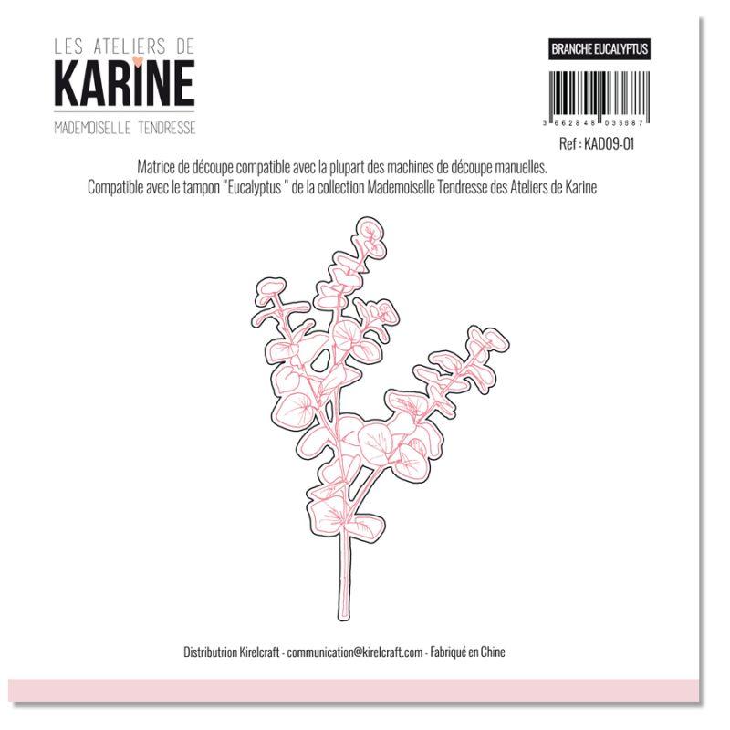 Die Les Ateliers de Karine -Collection Mademoiselle Tendresse - Branche Eucalyptus