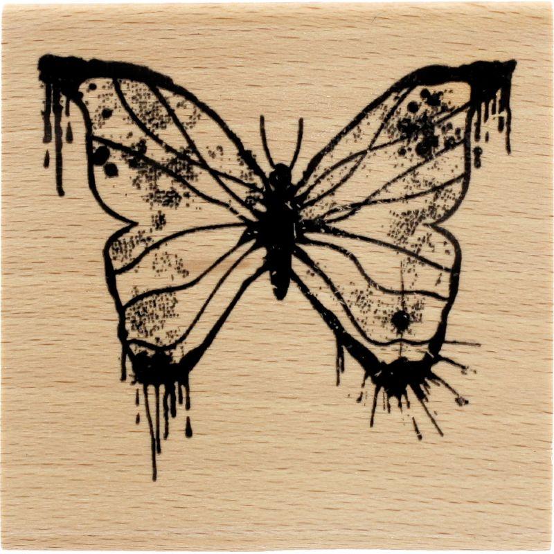 Tampon bois Florilèges - Papillon peint