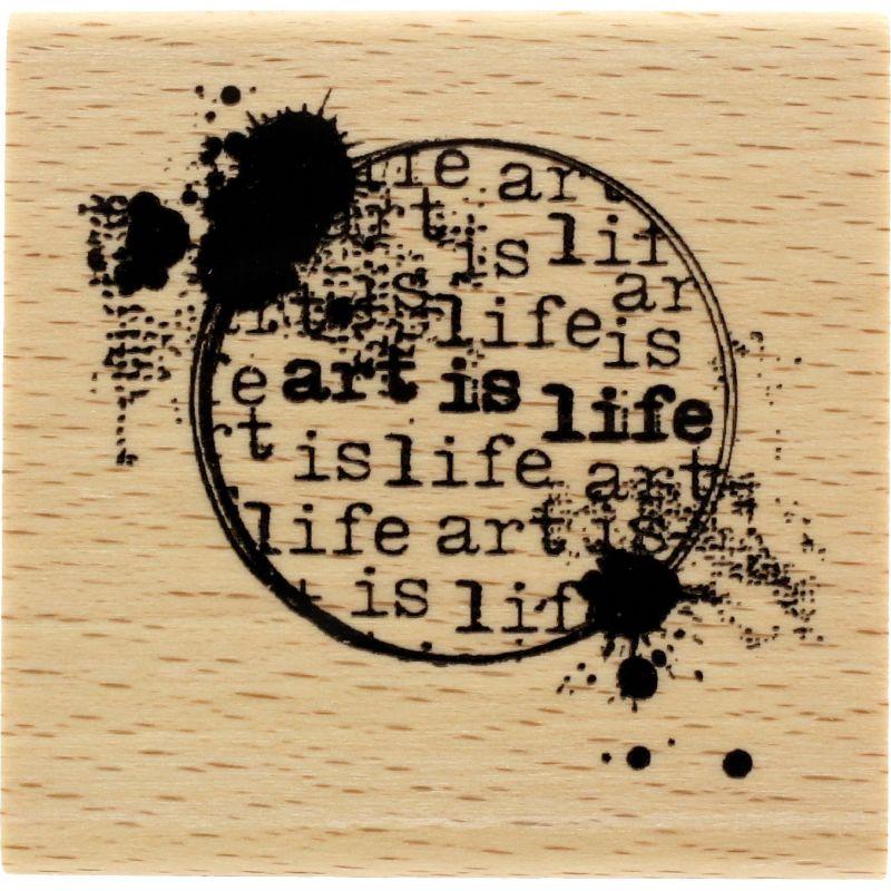 Tampon bois Florilèges - Art is life