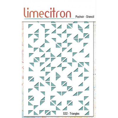 Pochoir Lime Citron 10x15 cm - Triangles