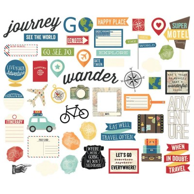 Die Cuts - Bits & Pieces - Travel Notes