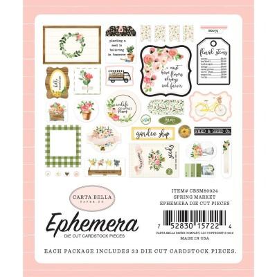 Die-cuts Ephemera Spring Market