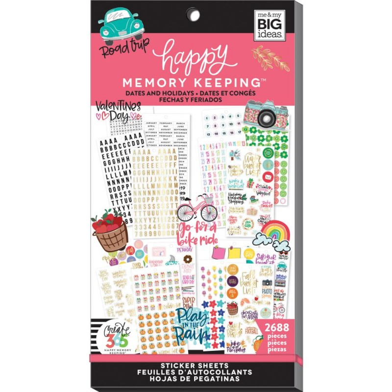 Pack de stickers Create 365 - Dates (30 feuilles)