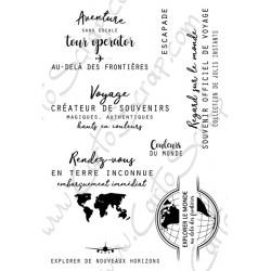 Tampons CartoScrap - Explorer le Monde
