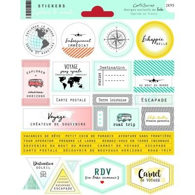 Stickers Cartoscrap - Explorer le Monde