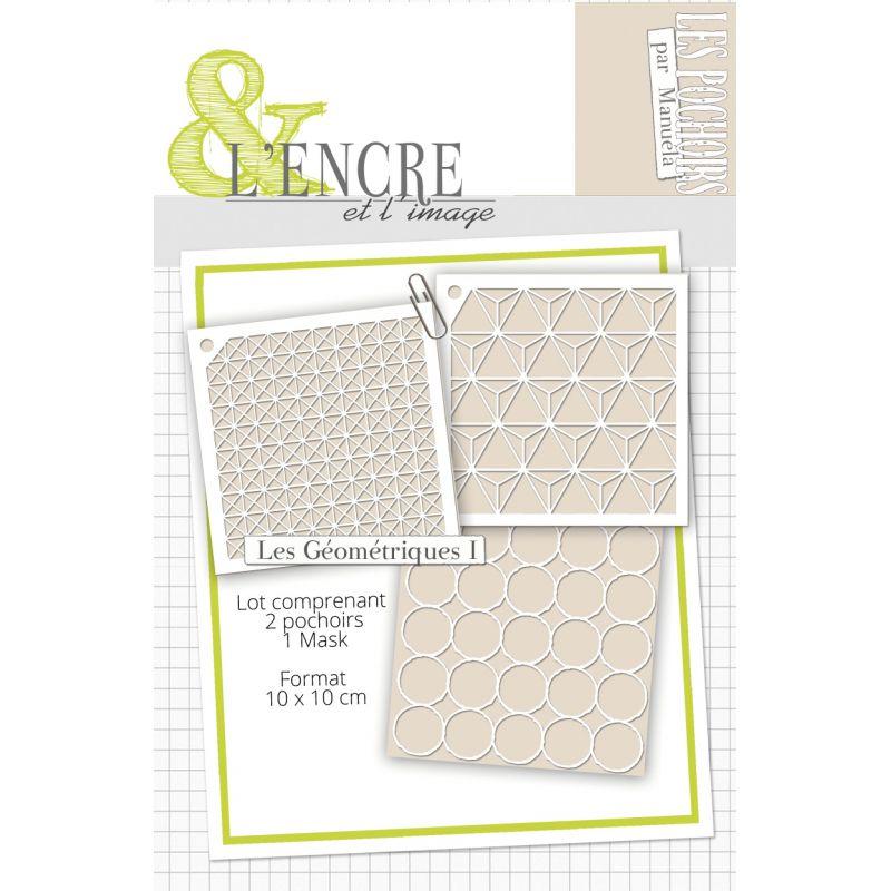 Set pochoirs L'Encre et l'Image - Les Géométriques 1