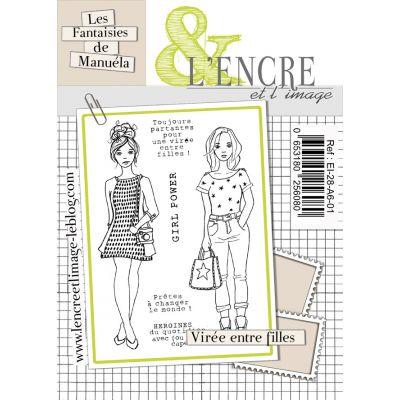 Tampons L'Encre & l'Image - Les Printaniers de Manuela - Virée entre filles