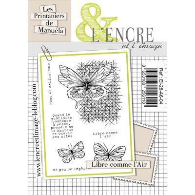 Tampons L'Encre & l'Image - Les Printaniers de Manuela - Libre comme l'Air