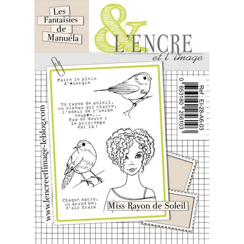 Tampons L'Encre & l'Image - Les Printaniers de Manuela - Miss Rayon de Soleil