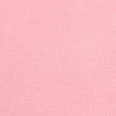 Cardstock texturé canvas - Coloris Rose