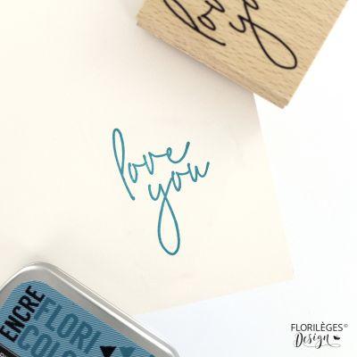 Tampon bois Florilèges - Soft & Green - Just Love You