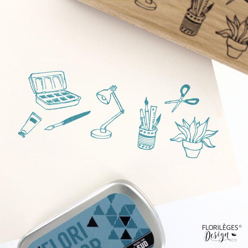 Tampon bois Florilèges - En toutes lettres - Moments créatifs