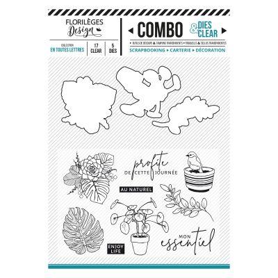 Combo Clear Die Florilèges - Soft & Green