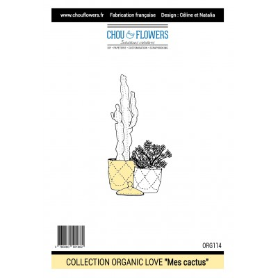 Tampons Chou & Flowers - Organic Love - Mes Cactus