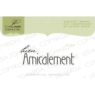 Tampon transparent Lesia Zgharda - Bien Amicalement