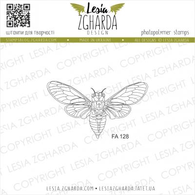 Tampon transparent Lesia Zgharda - Cicada (small)