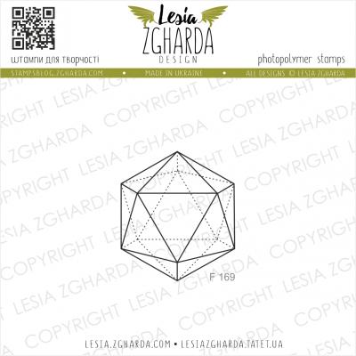 Tampon transparent Lesia Zgharda - Small Icosahedron