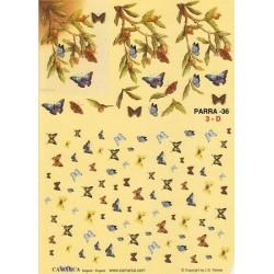Image Carterie 3D - Papillons