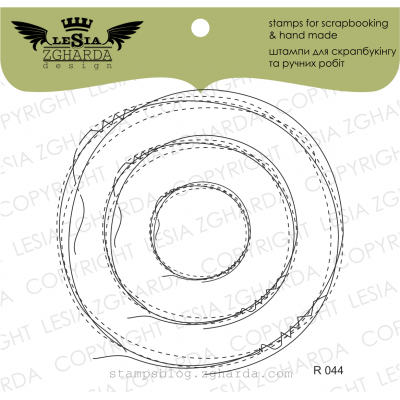 Tampons transparent Lesia Zgharda - Frame-dudling Circle Stitch