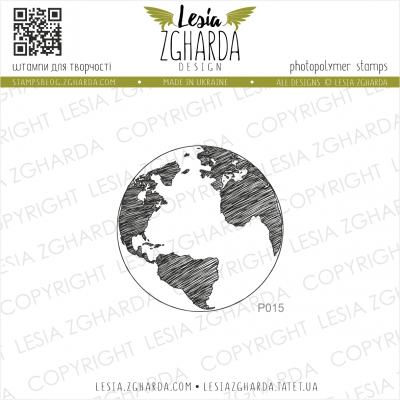 Tampon transparent Lesia Zgharda - Earth