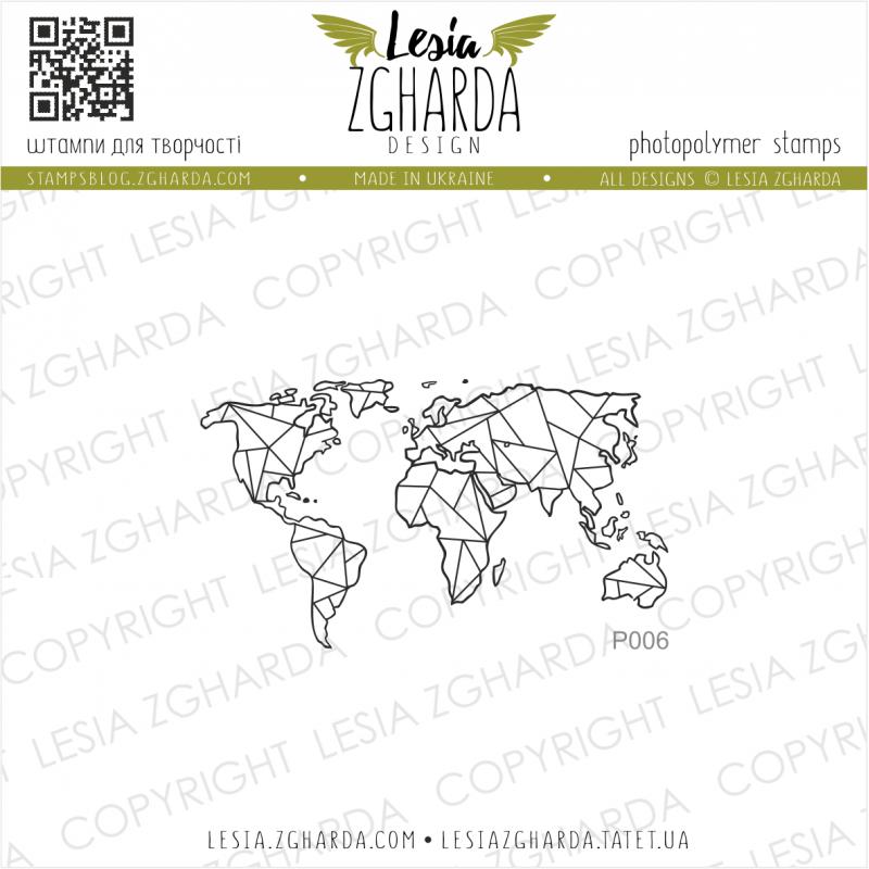 Tampon transparent Lesia Zgharda - Map Small