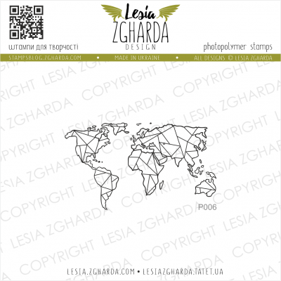 Tampon transparent Lesia Zgharda - Map Small