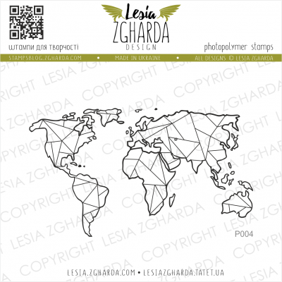 Tampon transparent Lesia Zgharda - Map Large
