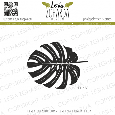 Tampon transparent Lesia Zgharda - Monstera Leaf Backdrop