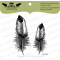 Tampons transparent Lesia Zgharda - Feathers