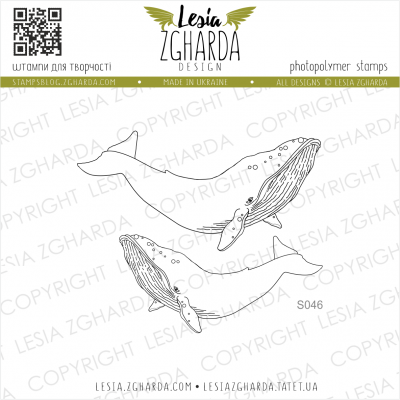 Tampons transparent Lesia Zgharda - Whales