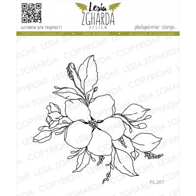 Tampon transparent Lesia Zgharda - Cherry Blossom Contour