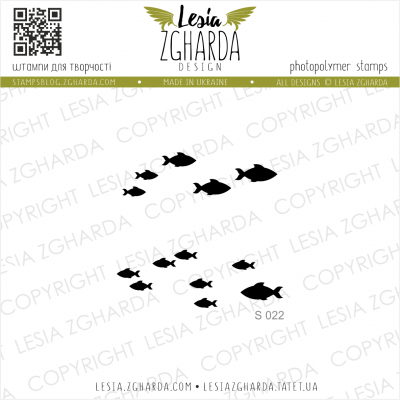 Tampons transparent Lesia Zgharda - Little Fishes