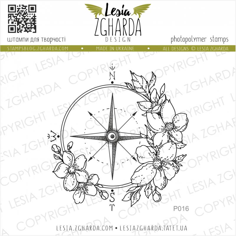 Tampon transparent Lesia Zgharda - Flower Compass